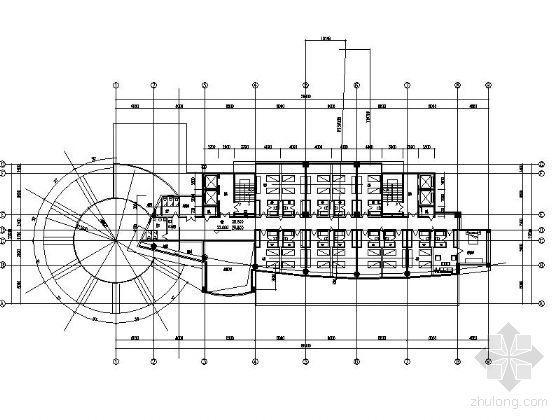 810平米高层办公楼平面设计图