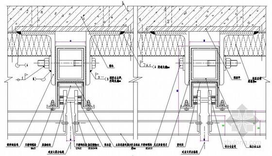 铝板幕墙立柱接头处横剖节点图