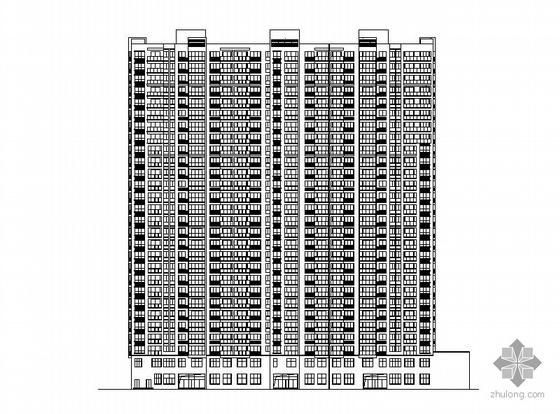 [温州]某安置房二十八层塔式住宅楼建筑施工图(一梯三户)