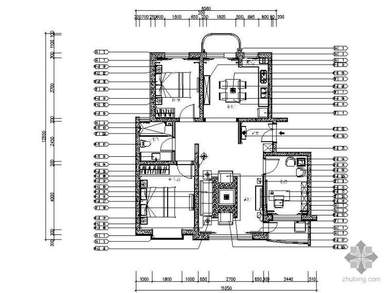 [大连]新欧式三居样板房装修图