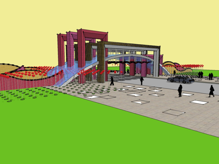 漂亮城市建筑SketchUp模型下载