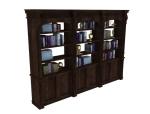 办公书柜3D模型下载