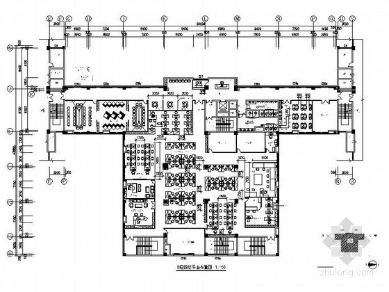 [广东]高新技术产业区家用电器公司现代办公室室内装修施工图(含效果)