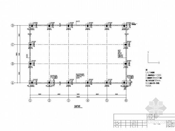 [湖南]单层钢筋混凝土排架结构工业厂房结构施工图