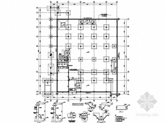 中学各种功能建筑结构施工图(含综合教学楼 实验楼 宿舍 风雨操场)