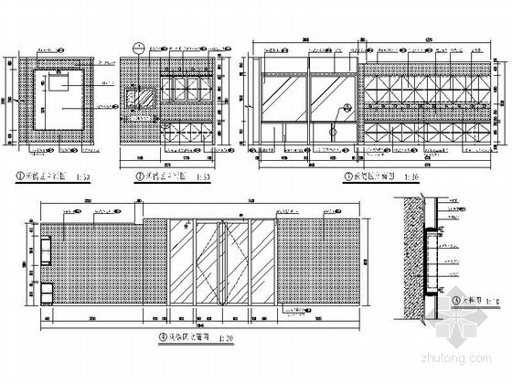 [北京]股份制商业综合金融机构支行装修施工图立面图