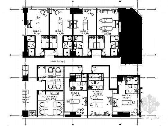 [上海]新中式五星级酒店SPA室装修施工图(含效果)