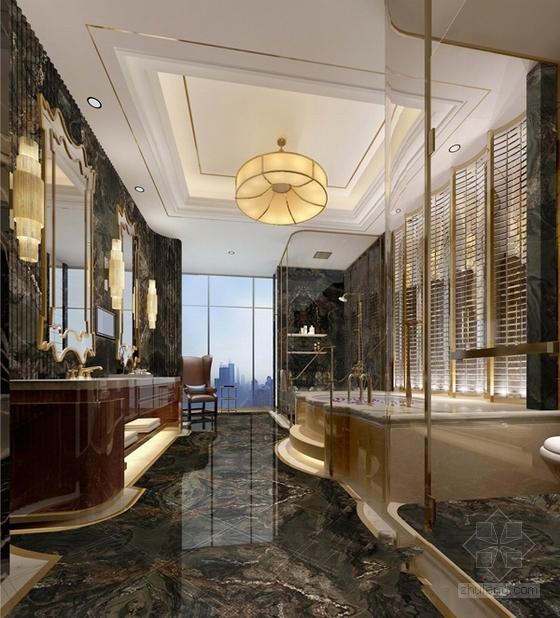 [福建]豪华五星级现代酒店室内设计成果汇报方案总统套房效果图