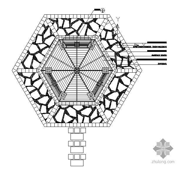 双层六角景亭施工详图-