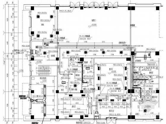 [江苏]交通站房空调通风系统设计施工图(风冷热泵系统)