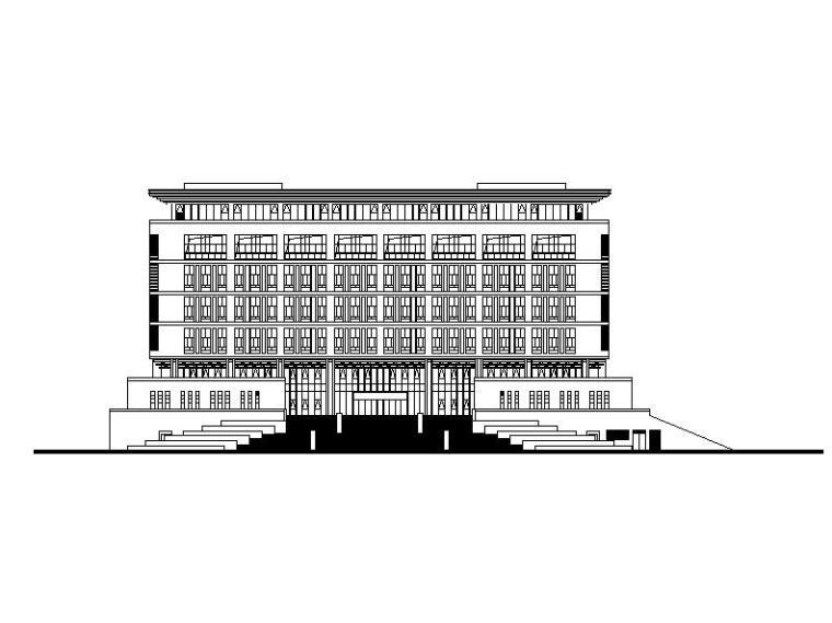 [江苏]高层平网架屋顶多功能高校图书馆建筑施工图