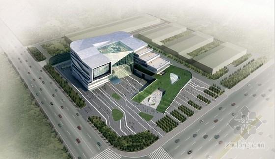 U形办公资料下载-[天津]高层U形中部玻璃体企业研发办公楼建筑设计方案文本