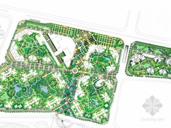 [重庆]英式风格居住区及CBD景观规划设计方案(澳大利亚设计公司手绘方案)