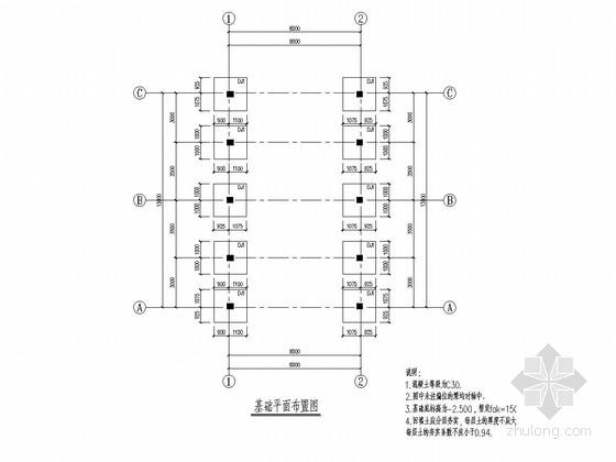 [湖北]地上单层与二层框架结构配电房结构施工图