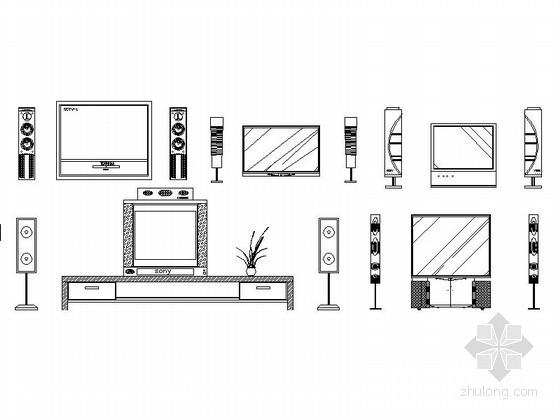 常用现代家电CAD图块下载