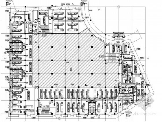 [上海]商业广场空调通风及防排烟系统设计施工图(大院作品)
