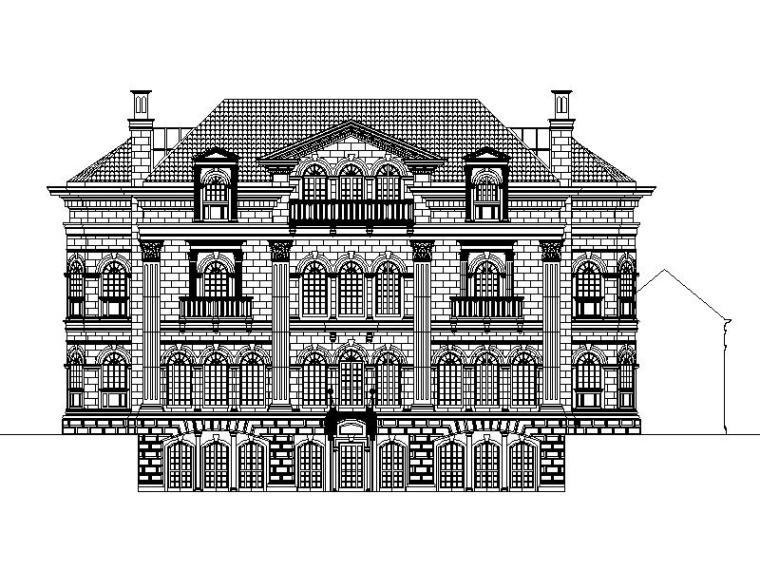 [上海]国外设计院纯欧式风格大型别墅区设计方案图纸(多国风格)