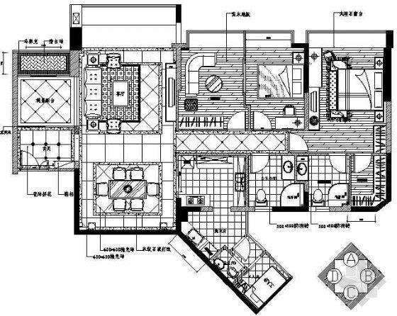 豪华欧式三室二厅家居装修图