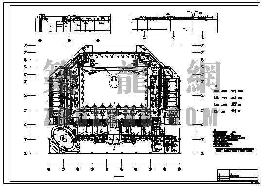红磨坊大剧院三层风管平面图