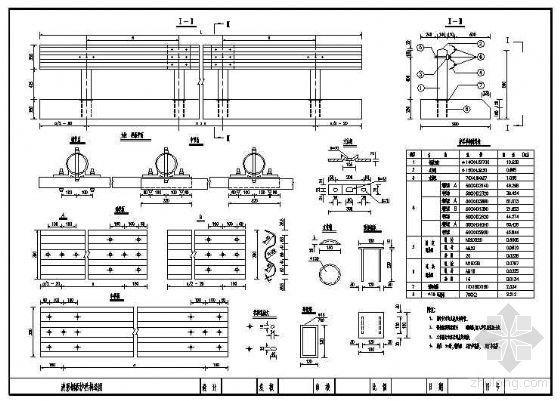 波形钢板护栏节点构造详图