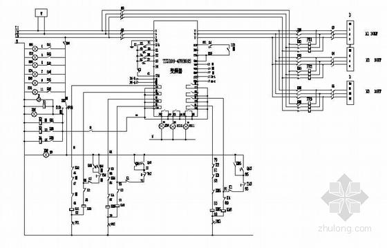 变频器控制原理图(一拖三)