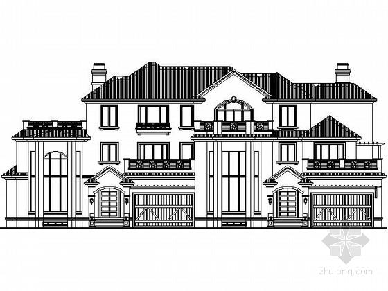 [哈尔滨]某三层双拼别墅建筑施工图(南入口420平方米)