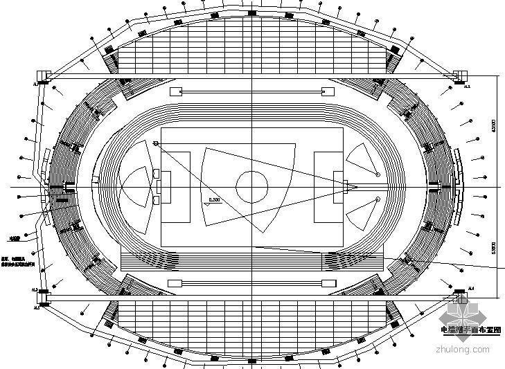 某大学体育馆照明系统初步设计大样图
