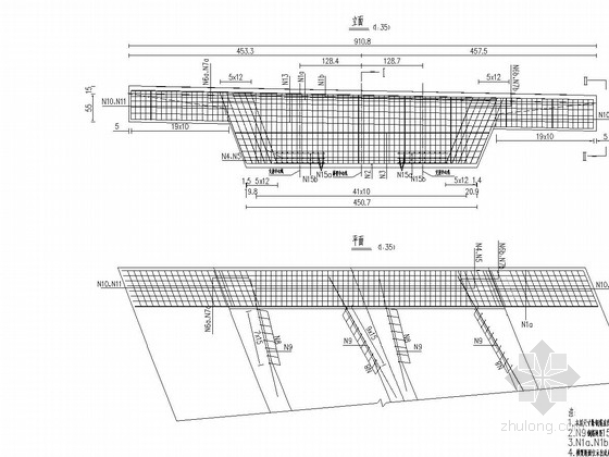 68.45m异形箱梁梁体设计图49张(全预应力结构)