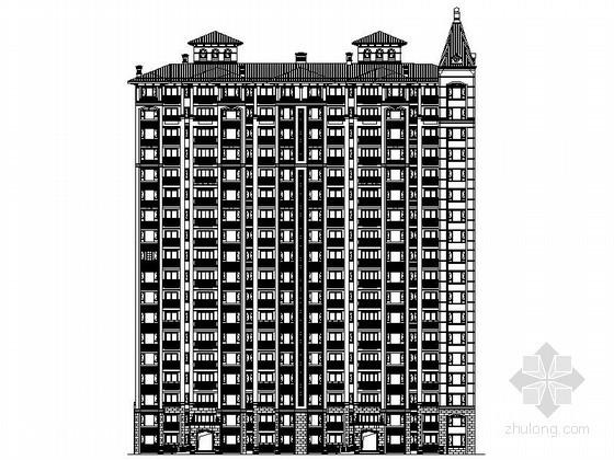[济宁]某十八层二连塔欧式住宅建筑施工图