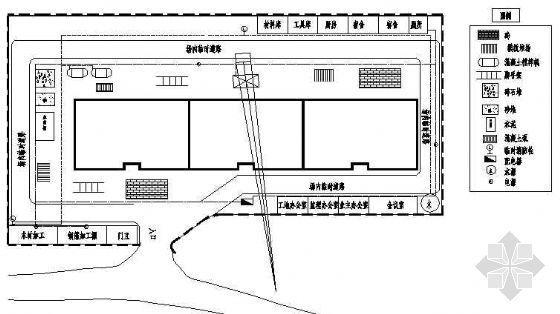 四川某住宅楼进度计划和平面布置图