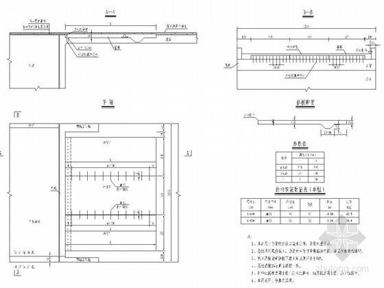 公路桥梁桥头搭板构造通用图(6m 8m)
