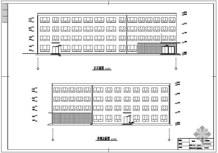 [学士]某四层办公楼毕业设计(含计算书、建筑设计图)