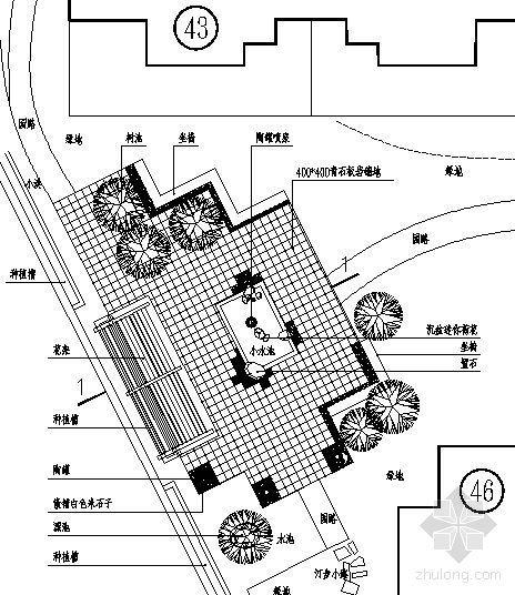 花架广场详图