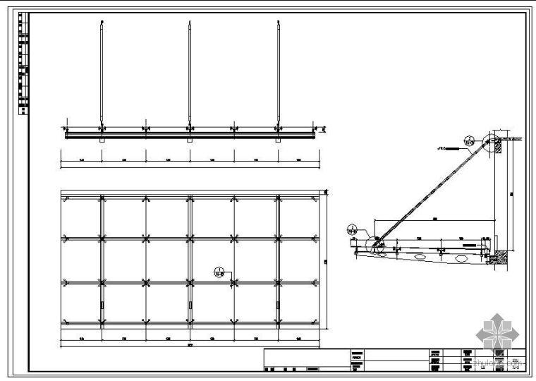 某点拨式雨蓬结构节点构造详图