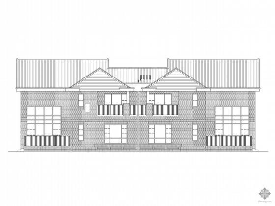 [北京]某二层双拼别墅建筑施工图