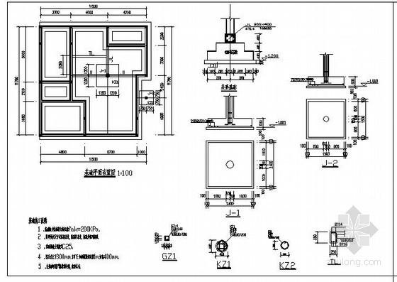 某三层私人住宅结构设计图