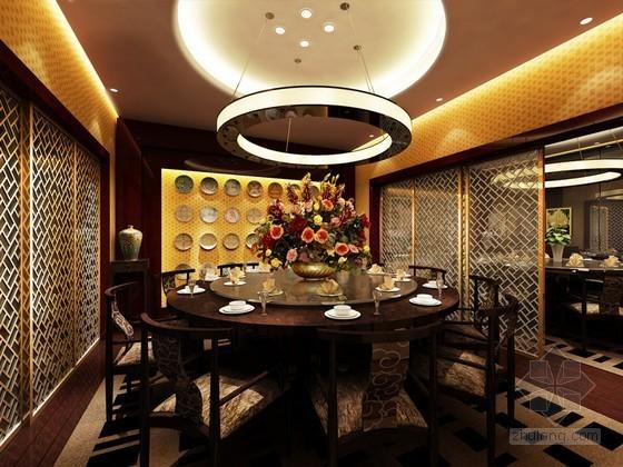 优雅中餐厅包间3d模型下载