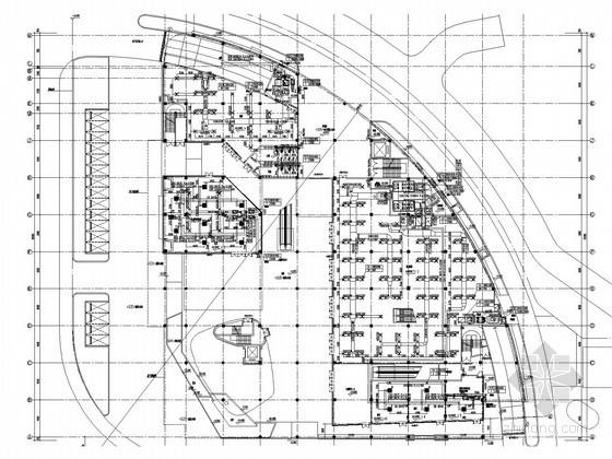 [湖北]商业街空调通风及防排烟系统设计施工图(螺杆式风冷热泵机组)