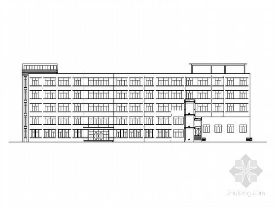 五层现代风格高中教学楼建筑施工图
