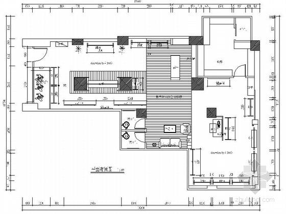 [南京]160平日韩风格服装店装修CAD施工图(含效果图)