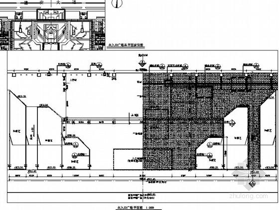 [河南许昌]公园主次入口广场景观工程施工图