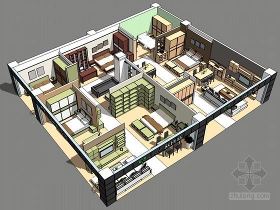 家居展厅SketchUp模型下载