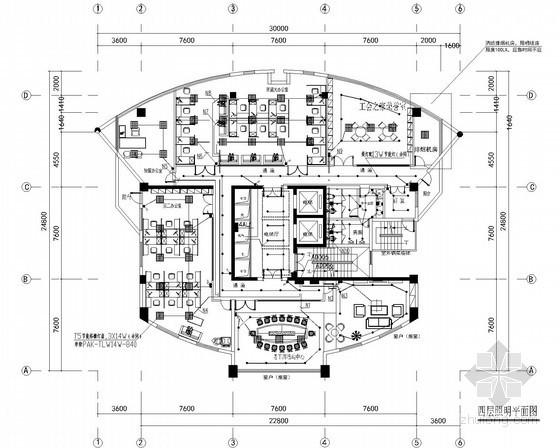 UPS插座布置资料下载-[浙江]高级经济管理部门照明系统及插座布置图纸
