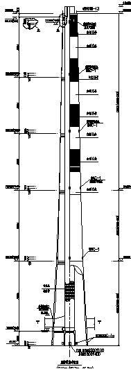 某240米混凝土外筒烟囱结构施工图(钢内筒)