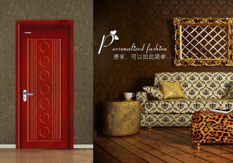 室内门色彩与墙面颜色形成反差