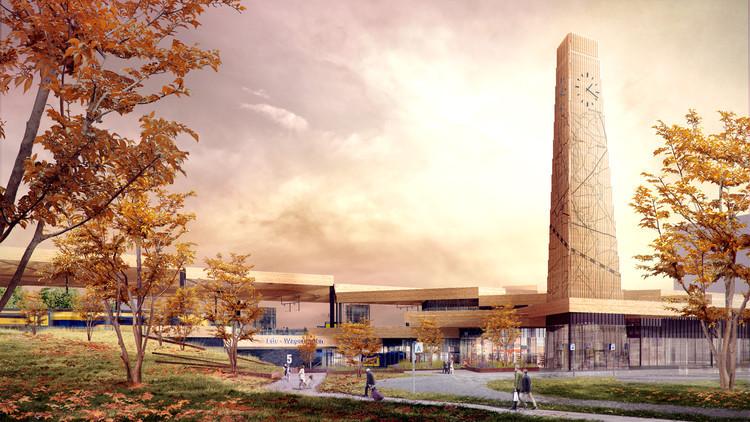 Mecanoo 建筑事务所设计的Ede Wageningen 火车站充满了活力