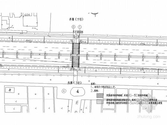 [上海]钢筋混凝土板梁桥维修改造施工图设计14张