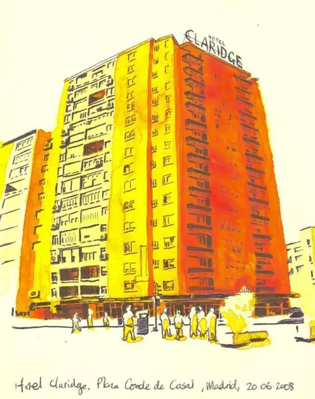 建筑手绘,国外设计师画的就是好看!_7