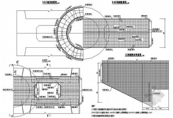 72+120+120+72m三塔矮塔斜拉桥成套cad设计图纸