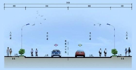 [浙江]24m宽改性沥青市政道路工程图纸130张(含雨污水 路灯 侯车亭)